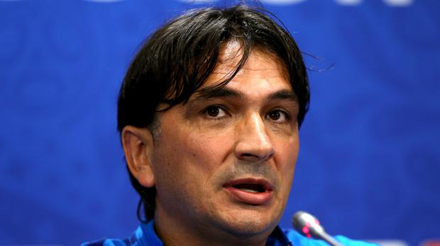 Zlatko Dalic during his pre-match press conference (Aaron Chown/PA)