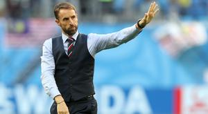 England manager Gareth Southgate acknowledges the fans after the third-place play-off defeat by Belgium (Owen Humphreys/PA)