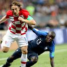 Luka Modric could not help Croatia to victory over France in the World Cup final (Owen Humphreys/PA)