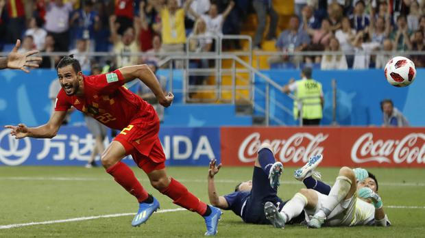 Nacer Chadli finished a fine Belgium move (Rebecca Blackwell/AP)