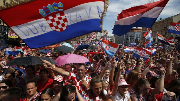 The Croatia team is welcomed home from its World Cup heroics (Darko Vojinovic/AP)
