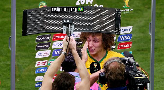 Brazil's David Luiz after defeat to Germany