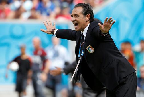 Italy coach Cesare Prandelli resigned following their early exit from the World Cup