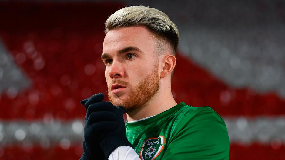Aaron Connolly of Ireland pictured ahead of last Wednesday's Group A match against Serbia in Belgrade. Photo: Stephen McCarthy/Sportsfile
