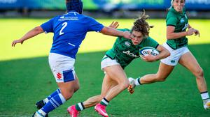 Beibhinn Parsons of Ireland in action against Maria Magatti of Italy. Photo by Roberto Bregani/Sportsfile