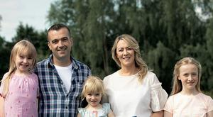 The Jordan family, who saved €343 over four weeks on their grocery bills