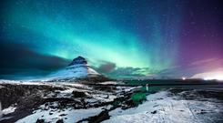 The Northern Lights over Kirkjufell