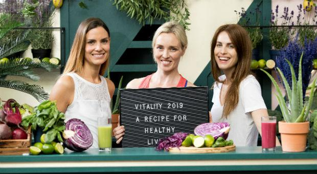 Alison Canavan, Siobhán Byrne and Holly White at the launch of Vitality 2019.