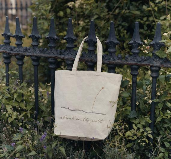 'A Break in the Path' organic cotton tote bag , €20 from The Garden