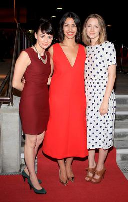 Danielle Ryan with Charlene McKenna and Saoirse Ronan at the opening of the Lir theatre