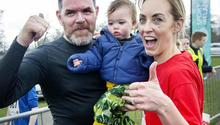 Kathryn Thomas with her daughter Ellie and husband Padraig. Photo: Tony Gavin