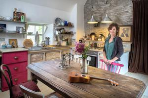 Selina Gittens in the kitchen of her renovated barn