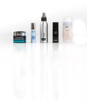 Pictured, from left, Lancome Visionnaire Nuit; Vichy Aqualia Thermal Awakening Eye Balm; Fuschia D20 Hydrating Spritz; Chanel Le Lift Concentre Yeux; Boots No7 Beautiful Skin Hydration Mask