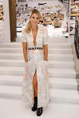 Vogue williams at the Paul Costelloe show at London Fashion Week