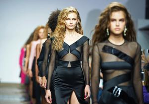 Big hair day: The perm was reimagined for SS17 at Topshop Unique