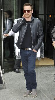 Leather Jacket: Michael Fassbender