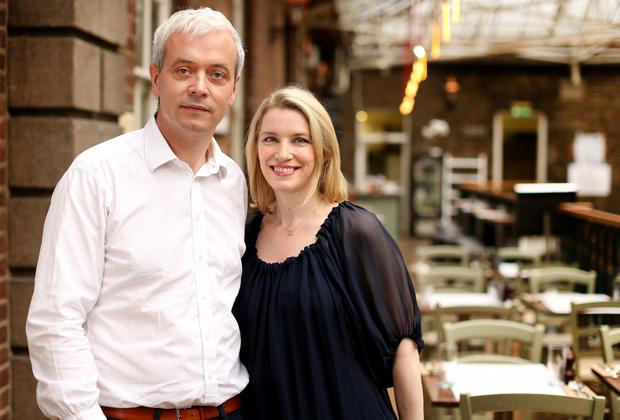 Top of the world: Ronan Ryan and Pamela Flood at their new cafe, Counter Culture. Photo: Gerry Mooney