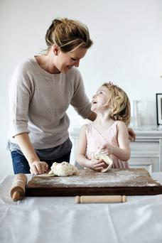 Rachel Allen with her daughter Scarlett