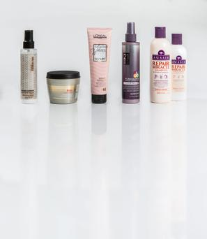 Pictured, from left, Shu Uemura Art of Hair Wonder Worker; Redken Frizz Dismiss Mask; L'Oreal Hollywood Waves Sculpting Gel-Cream; Pureology Colour Fanatic; Aussie Repair Miracle Shampoo and Conditioner