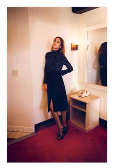 Blouse, €320; skirt €1,120, both Alexa Chung for AG, stocked exclusively at BT2 Grafton St, D2