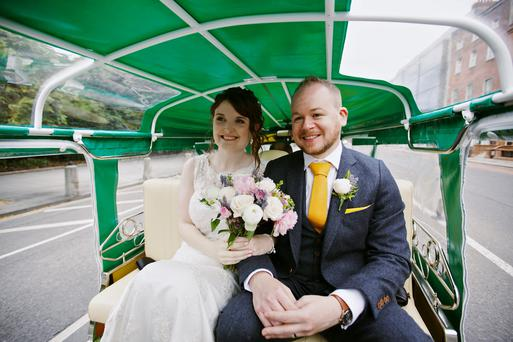 Caroline and Ciaran's wedding. Photography: Elisha Clarke