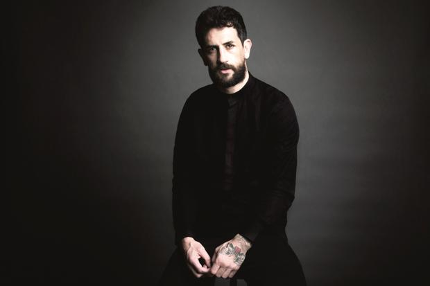 Paul Galvin wears: 100pc cotton Oxford-weave shirt with standing mandarin collar and side pockets, €45