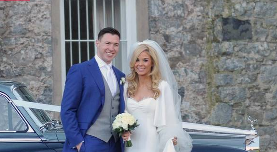 Eamon Fennell and new wife Fiona Creely. Photo: John Dardis