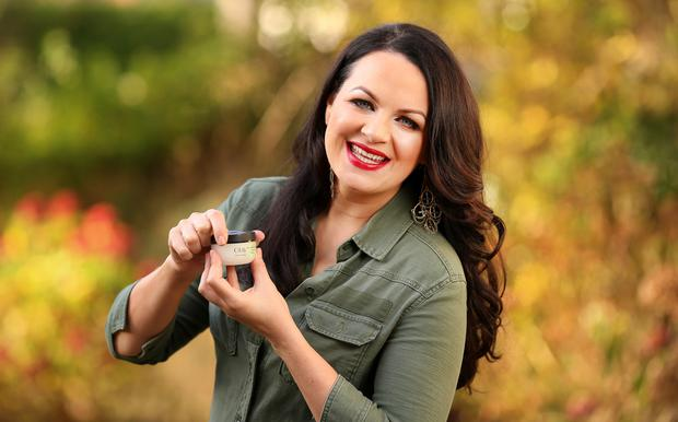 Anti-wrinkle: Triona McCarthy with Oil of Olay. Photo: Gerry Mooney.