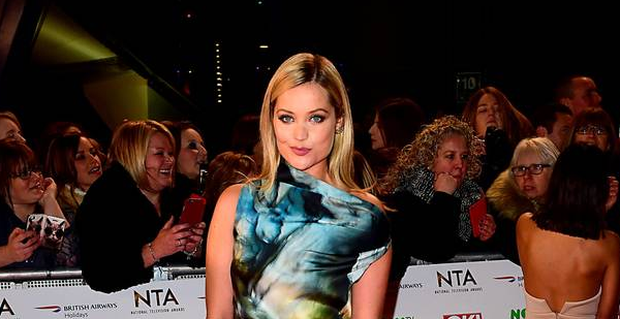 Laura Whitmore arriving at the National Television Awards 2016 held at The O2 Arena in London. Photo: Ian West/PA Wire