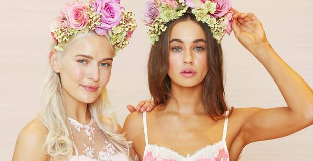 Teodora Sutra and Thalia Heffernan model Brown Thomas latest lingerie campaign. Photograph: Leon Farrell / Photocall Ireland