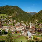 The hills are alive: La Clusaz, Haute-Savoie, France. In the winter the peaks are covered in snow, in summer wild flowers and greenery are abundant.