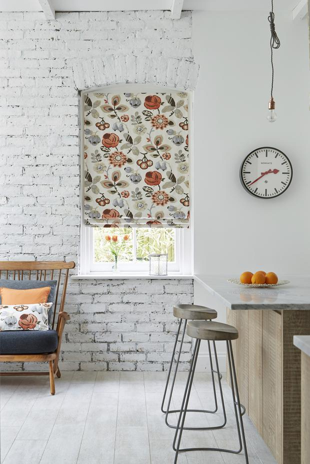 A floral motif blind from Hillarys.
