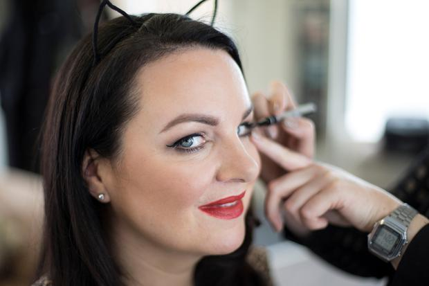 Cat's eyes: Triona McCarthy show how to pep up your peepers. Photo: Mark Condren