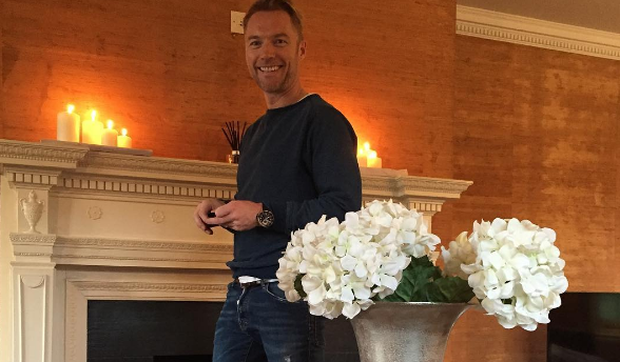 Ronan Keating poses in living room of his new countryside home / Instagram