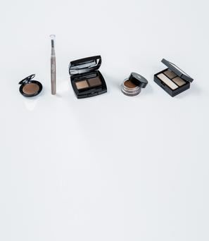 Pictured, from left, Bobbi Brown Long-Wear Brow Gel in Taupe; Catrice Velvet Brow Powder Artist in Blond Brows are a Girl's Best Friend; Chanel Brow Powder Duo in Naturel; Lancome Sourcils Gel in Auburn; Urban Decay Gwen Stefani Brow Box in Bathwater Blonde. Photo: Kip Carroll.