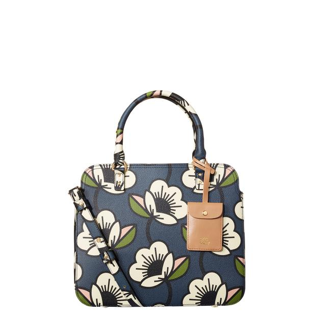 Passionflower print in navy from Orla Kiely