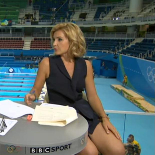 Daring: Helen Skelton presents the BBC Rio Olympics coverage