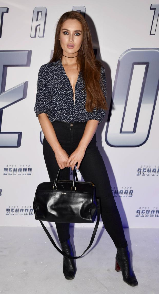 Instantly glamorous: Roz Purcell