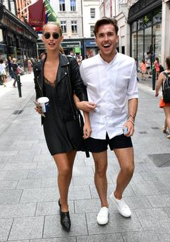 Model Thalia Heffernan with her bestie, celeb hairstylist Matthew Feeney