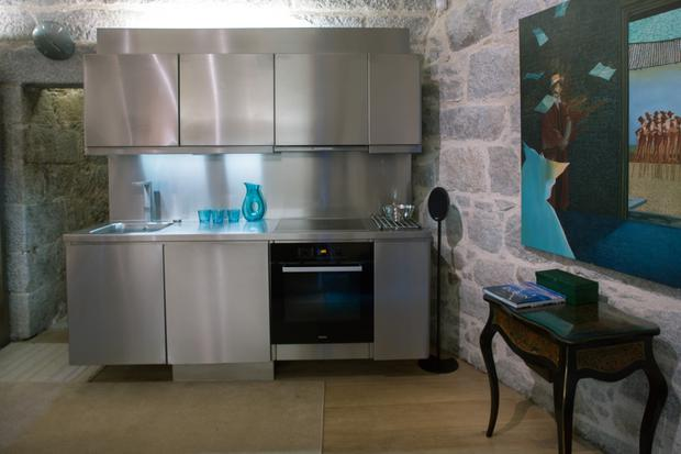 The stainless steel units were an inspired choice of Helen's