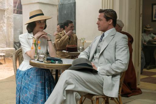 Acting class: Brad Pitt plays Max Vatan and Marion Cotillard plays Marianne Beausejour in Allied
