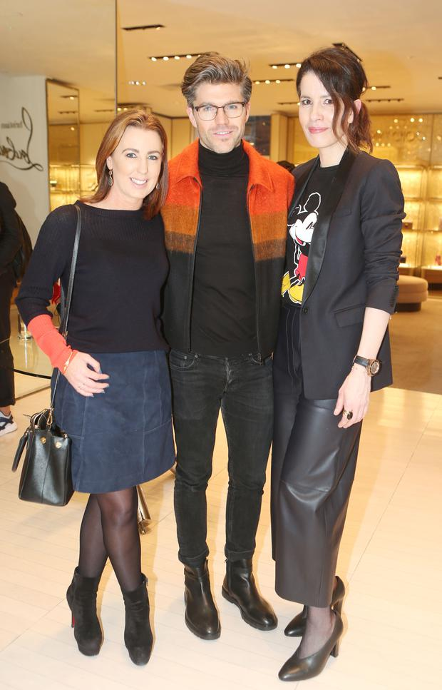Darren Kennedy with Clodagh Edwards, CEO of Image Publications, and author Annmarie O'Connor