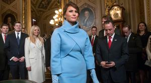 Melania Trump's inauguration day outfit by Ralph Lauren will popularise high-necked bolero jackets and 'matchy matchy' accessories