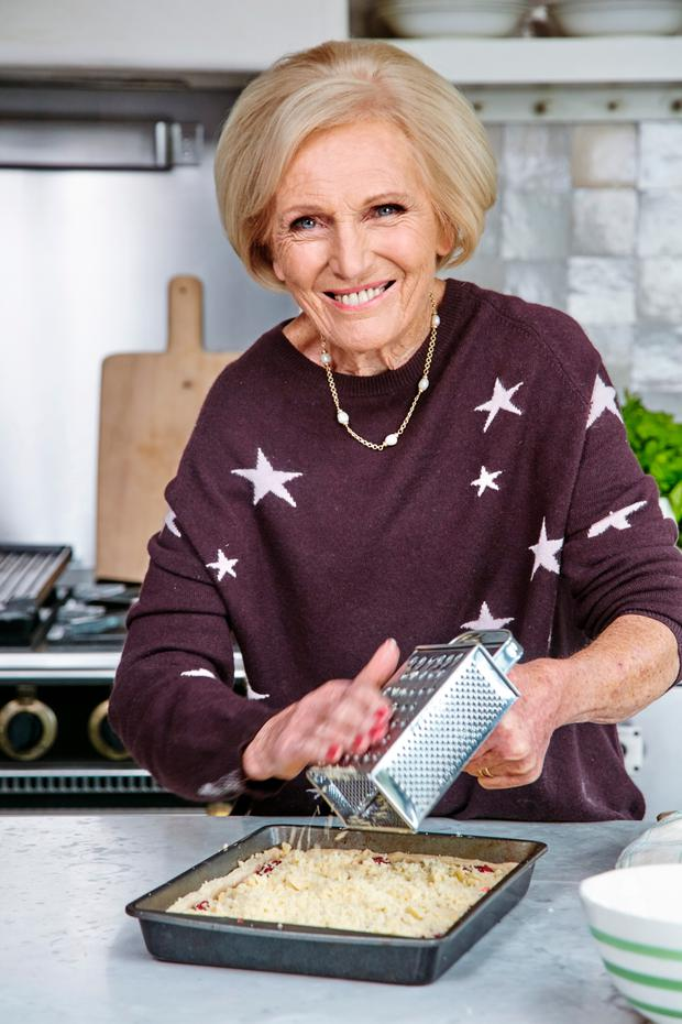 Great fun: Baking idol Mary Berry in her kitchen