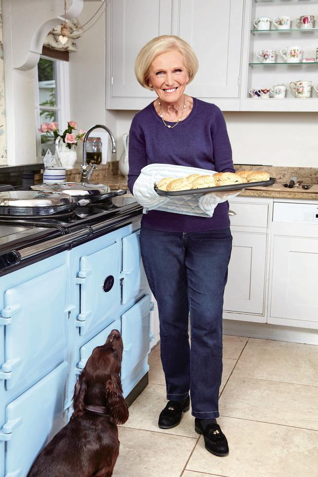 Queen of scones: Mary Berry in her kitchen