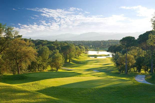Staring down the fairway of the the Stadium Course at the PGA Catalunya Resort - a place golfers dream about