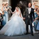 Victoria Swarovski wore various dresses during her wedding day
