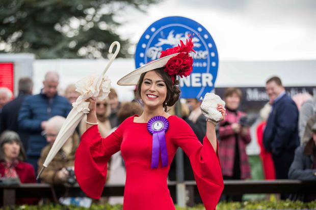 Laura Elliott from Belfast, winner of last year's Carton House Most Stylish Lady competition. Photo: ©INPHO/Morgan Treacy