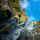 The first rule of canyoning is 'don't look down'