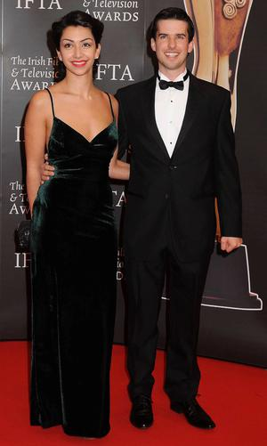 Danielle Ryan and husband Richard Bourke at the IFTAS